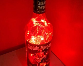 Upcycled Captain Morgan Rum bottle lamp by JCLamps