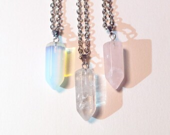 Mini Crystal Point Necklace