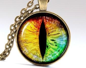 Colorful eye jewelry beast eye pendant Snake eye necklace Colorful Necklace Colorful Pendant Beast Necklace Beast Jewelry LG154