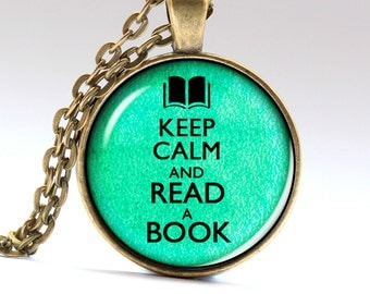 Read Necklace, Read Pendant, Read Jewelry, Book Necklace, Book Jewelry, Book Pendant, Book Charm, reading necklace, reading pendant LG510