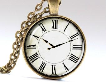 Clock Necklace, Watch Jewelry, Watch Pendant, Alarm Necklace, Alarm Pendant LG653