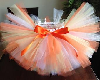 Candy corn tutu, halloween tutu, orange yellow white tutu, birthday tutu, baby tutu, toddler tutu, girl tutu, costume tutu
