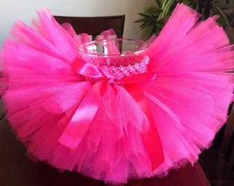 Pink tutu, hot pink tutu, birthday tutu, tutu, photo prop, newborn tutu, baby tutu, toddler tutu, bright tutu, girl tutu