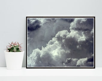 Cloud Print, Abstract Photo, Clouds Photo, Printable Art, Nature Print, Sky Photo,  Downloadable, Modern Wall Art, Wall Decor