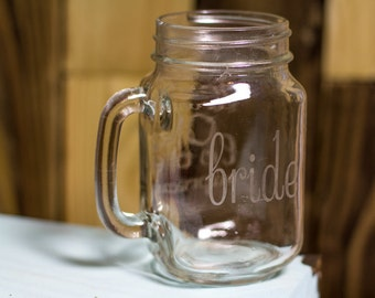 Custom Pint Glasses, Personalized Pint Glasses, Custom Etched Pint Glasses, Bride and Groom Gifts, Drunk on Love Etched Mugs Set