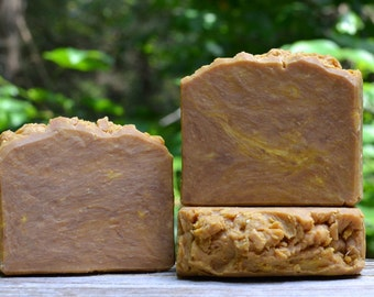 Carrot Cedar Castile Soap, Olive Oil Soap, Natural Soap, Vegan Soap