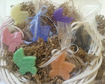 Pram soap-baby shower-birthday party-package of 30 mini soaps