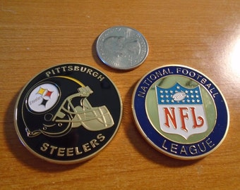 NFL Pittsburg STEELERS Football Team Challenge Coin / Medal Comes w Hard Case