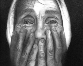 Original portrait done in graphite pencil