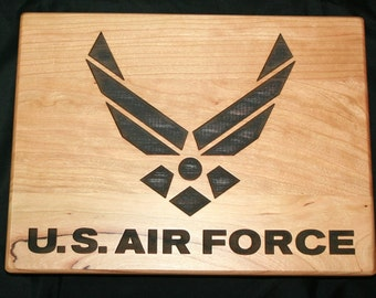 US Air Force Personalized Cutting Board - Great Military Gift