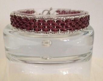 Purple & Silver Bracelet