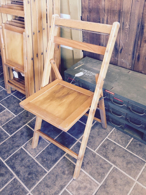 Wood Slat Folding Chair Mid Century Modern Retro MCM Vintage fice Herman Mi