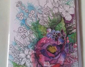 Beautiful flowers - Blank Greetings Card