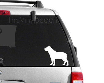Rottweiler Decal - Car Decal - Rottie Decal