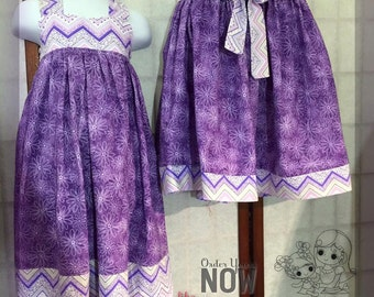 Mommy and Me mix and match set / Mother Daughter Matching dress and skirt