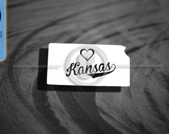 Love Kansas State - Car Vinyl Decal