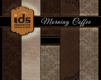 Digital Paper - MORNING COFFEE - Set of 5 Designs