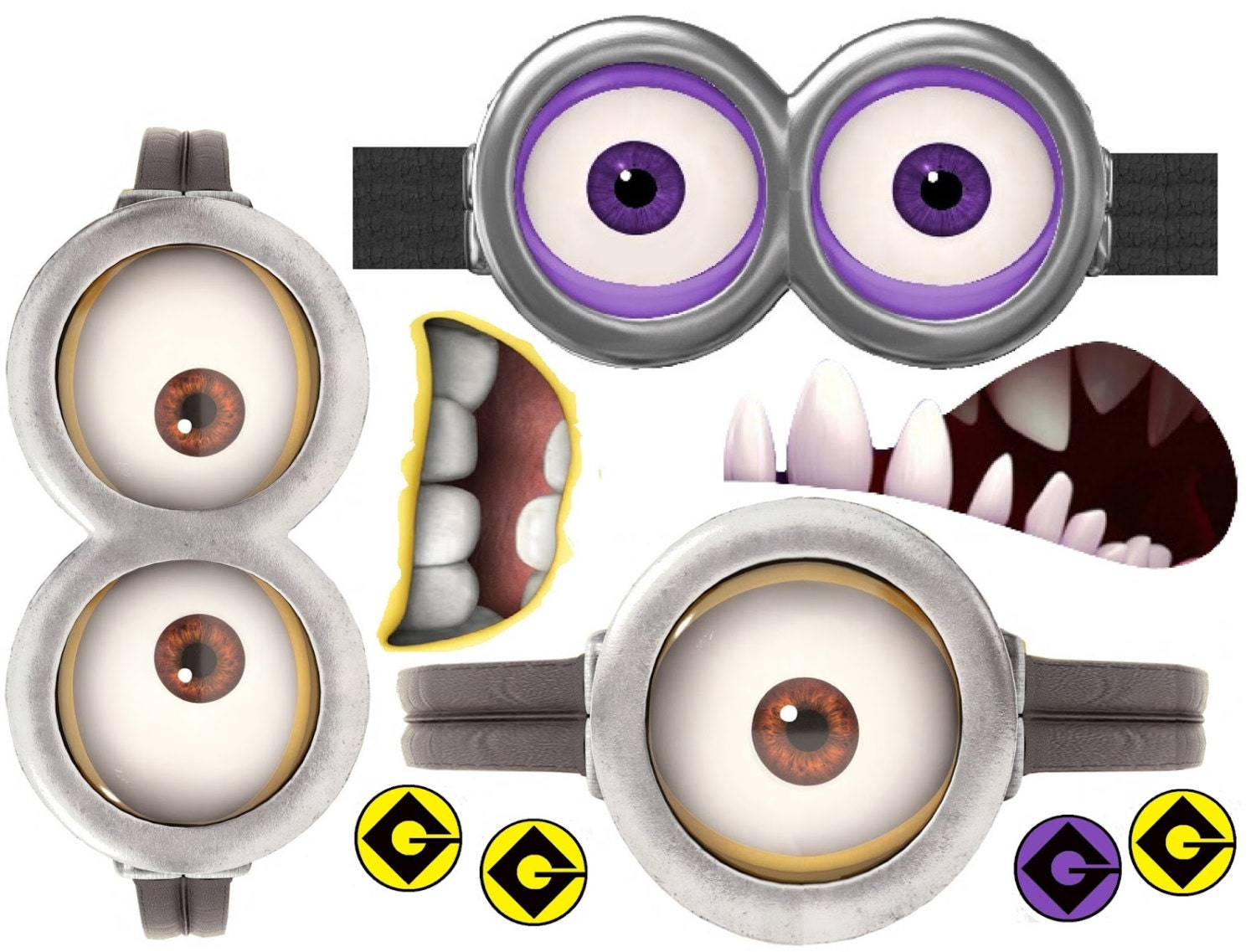 Dramatic image inside minion mouth printable