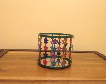 Colorful candle holder