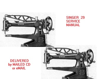 SINGER 29 Sewing Machine SERVICE MANUAL industrial cylinder bed- Instant Download! Repair, Schematic, Technical, Fix
