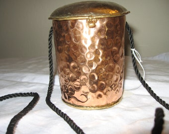 Unique Collectable Art Beaten Copper Purse