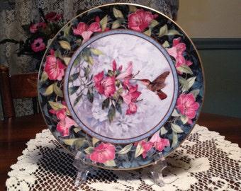 1990s Royal Doulton The Ruby Topaz Hummingbird Plate