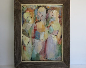 Original Mid-Century Modern Abstract Art, Signed By: Ehroenreich.