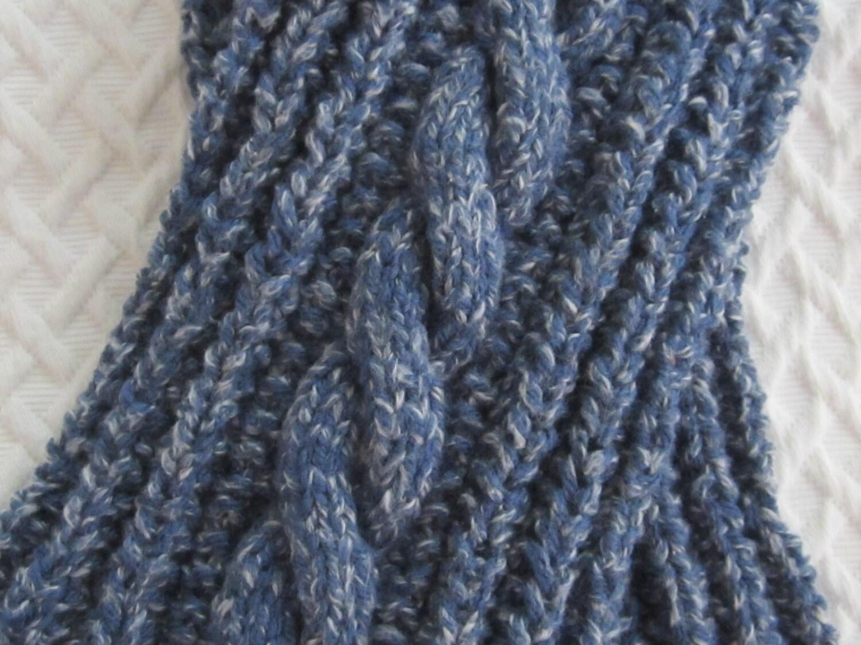 pdf Knitting Pattern Twistout Tomboy chunky scarf for boys or