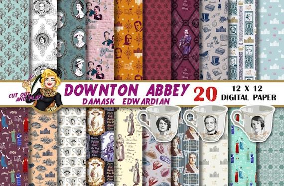 downton abbey theme paper
