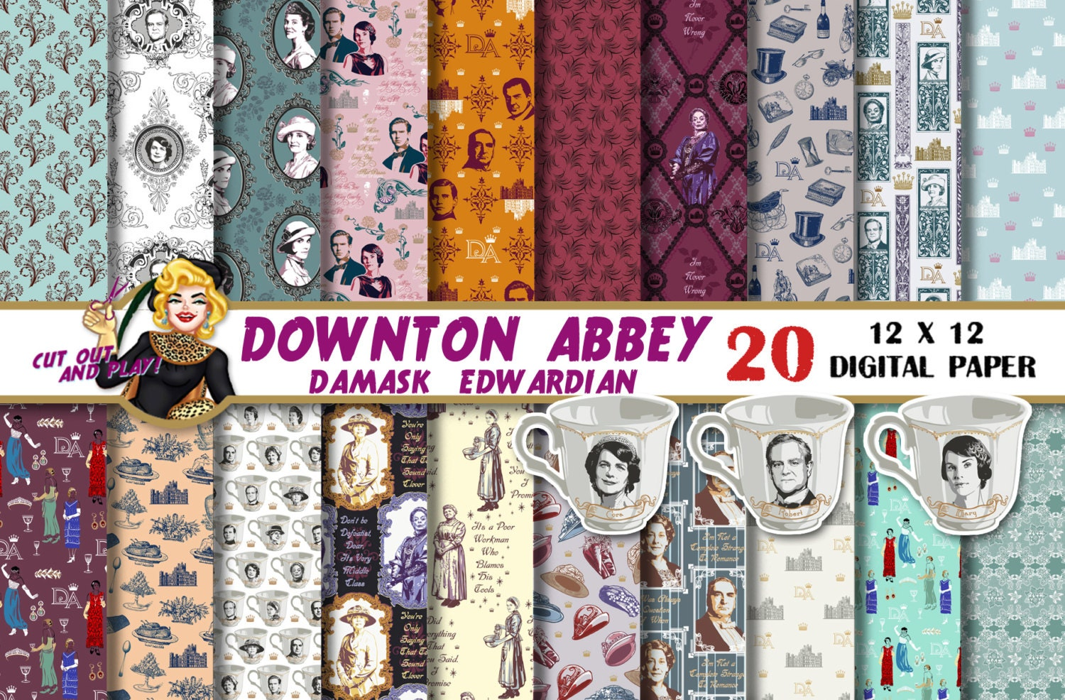 downton abbey theme paper Host an elegant high tea party with your ladies by following this cute (and oh so refined) downton abbey inspired tea party video tutorial his is a party at which the dowager countess of grantham wouldn't turn up her nose.