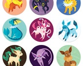 "1.25"" Eeveelution Button Pack"