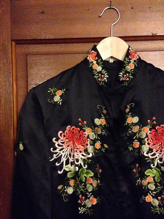 Vintage golden bee chinese embroidered jacket by sarahpdirks
