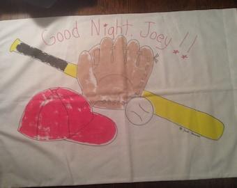 Good Night Joey!  BIBB Standard Pillowcase.  Unique