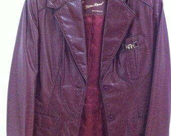 Vintage Etienne Aigner Leather Jacket. Size 6