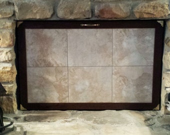 iron fireplace cover. Custom Made Fireplace Cover  Magnetic cover Etsy