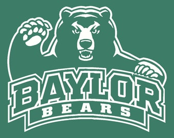 Baylor University Bears Vinyl Decal Sticker