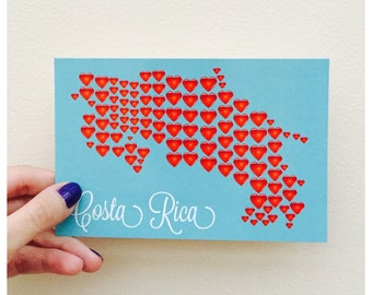 I heart Costa Rica postcard