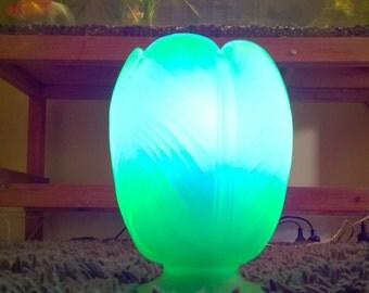 Uranium Glass Bagley Tulip Lamp
