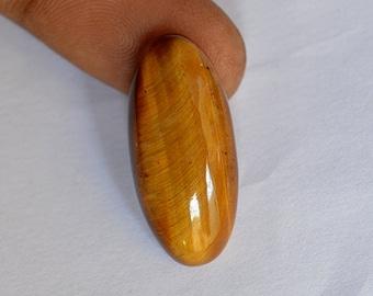 18 Ct Natural Powerful Loose Oval Cut TIGER EYE Gemstone 27x12x6 MM R-0181