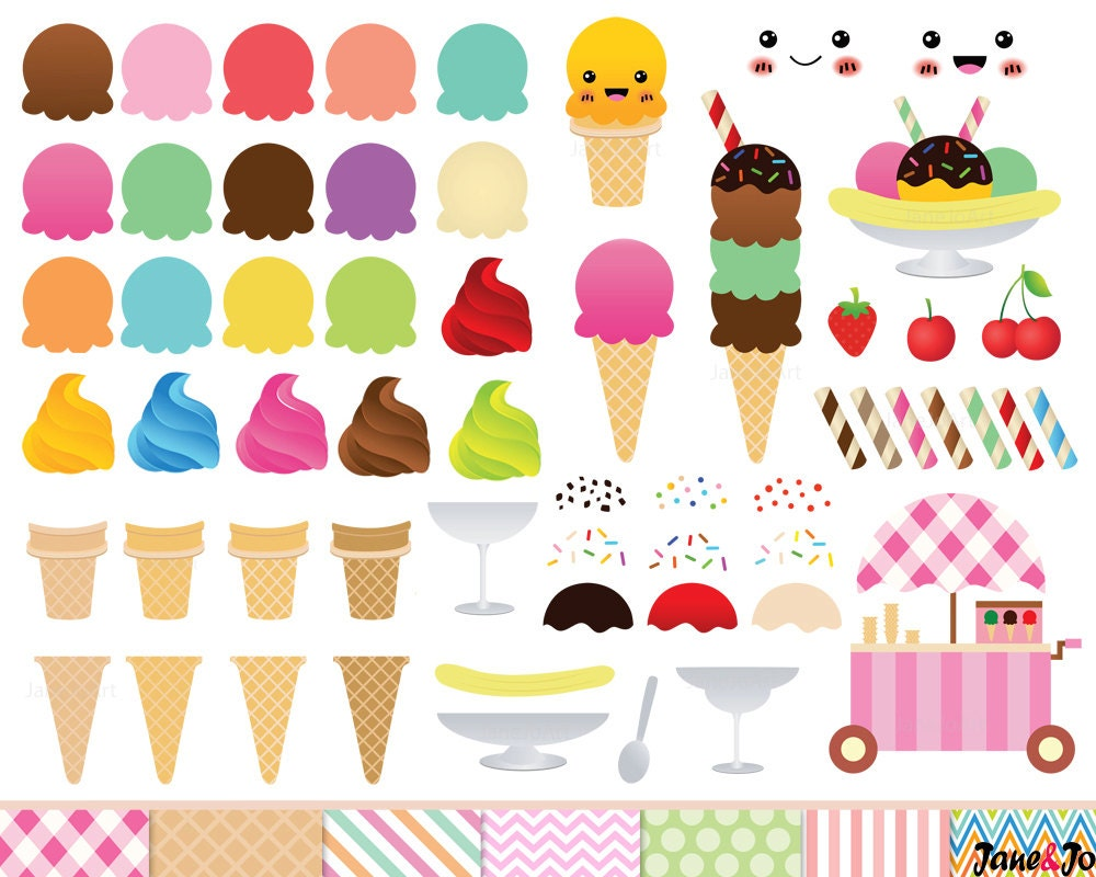 68 Ice Cream Clipart Ice cream cone Clip art ice by JaneJoArt
