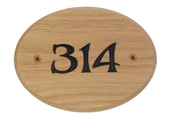Room number sign, oval number sign, hotel door sign