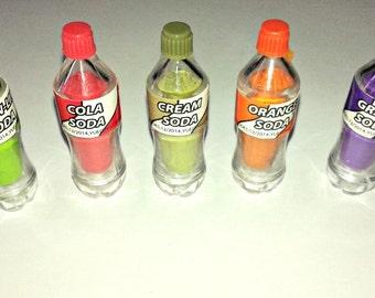 6 Soda Pop Bottles, Perfect For 18 inch Dolls, American Girl Dolls, American Girl Doll Drinks, AG Doll food