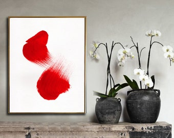 """Printable Art, Abstract Art Print, Chinese Brush Ink Painting, INSTANT DOWNLOAD 11""""x14""""."""