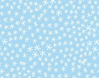 Festive - Snowflakes in Pale Blue by Jo Clark for Cloud9 Fabrics  *UK Seller* Sold by the FAT QUARTER