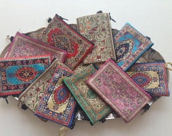 Original Turkish woven coin purse - Turkish tapestry coin purse - Buy 2 get 20% OFF