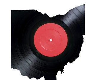 Vinyl Record - Ohio - Vinyl Record Wall Art - Wall LP - Black Home Decor - Laser cut