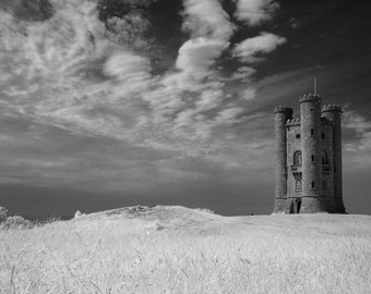 Landscape Fine Art Photo:  Winterfield, Cotswolds, Broadway, England, Countryside, Landscape, Castle. Game of Thrones