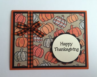 Handmade Happy Thanksgiving Card