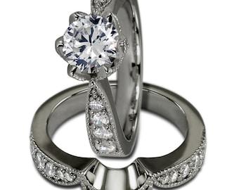 Bridal Sets Engagement Rings Wedding Band Sets Wedding Jewelry White Gold Rings
