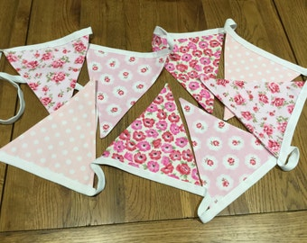 Vintage Pink, Shabby Chic Bunting
